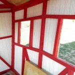 wall timber framework childrens playhouse