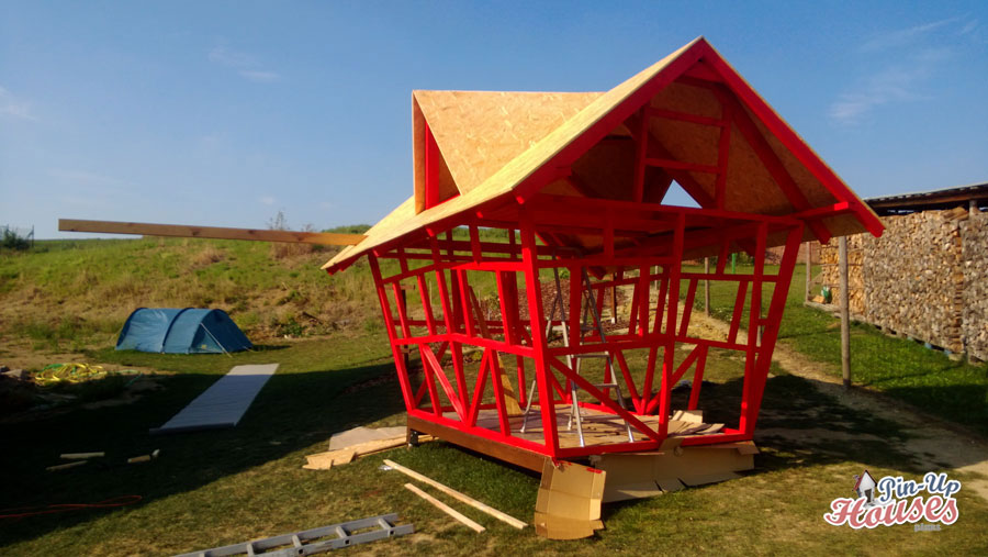 kids playhouse timber frame pin-up houses
