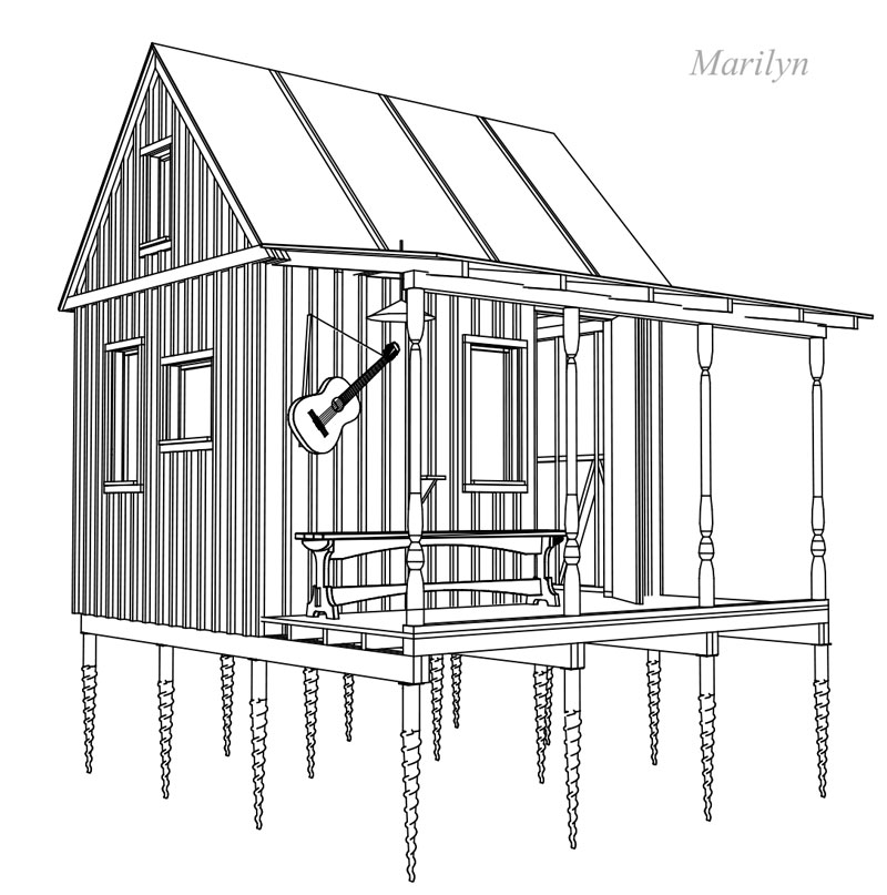 Diy Ground Screw Foundation Small Wooden House Plans Micro