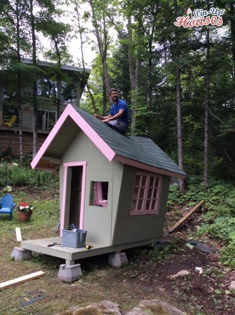 kids playhouse being built