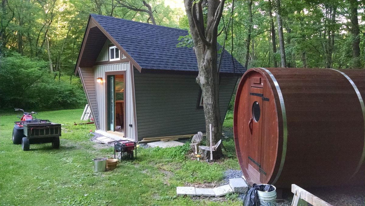pentagon cabin plans. Black Bedroom Furniture Sets. Home Design Ideas