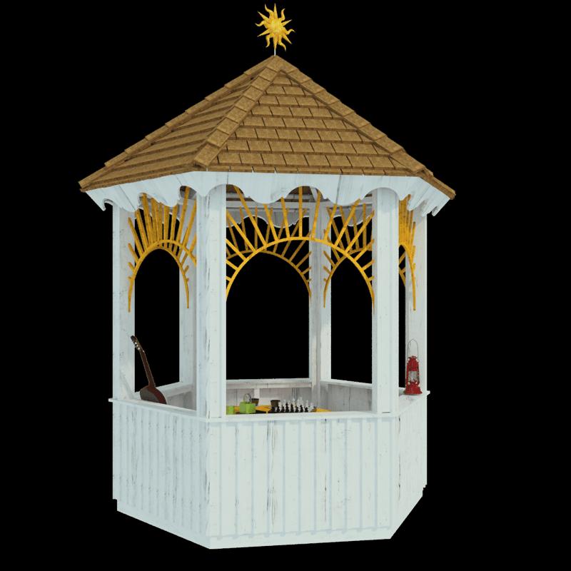 Wooden Gazebo Plans Nefertiti
