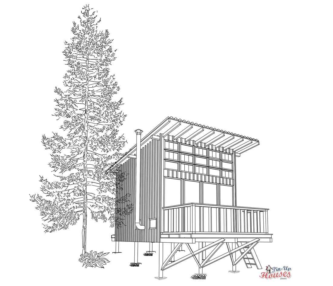wooden cabin Candy