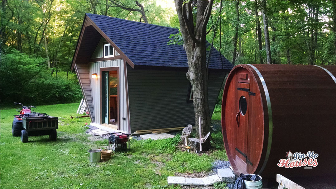 forest cabin construction