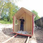 prefab tiny house construction first part