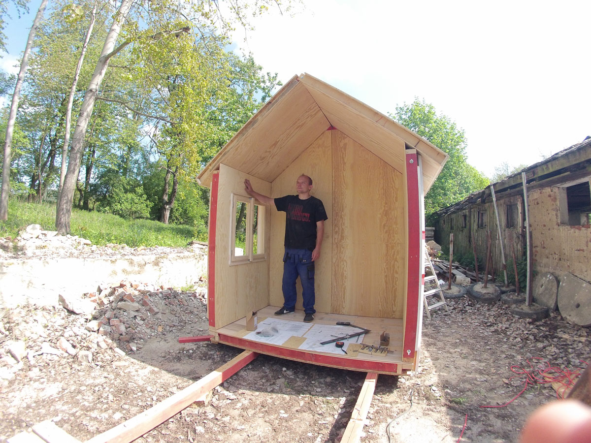 prefab tiny house construction first part - Prefab Tiny House