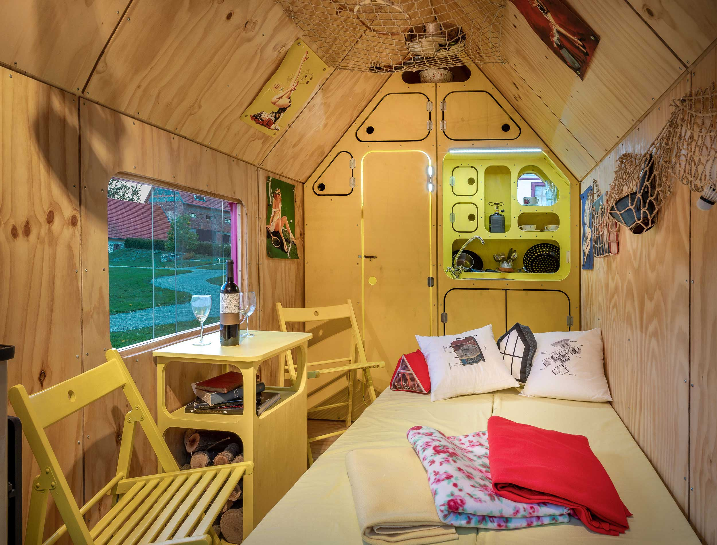 Magenta Tiny House - Press Release & Pictures - Small Wooden ... on 1000 sq ft. small homes, 400 sq ft. small homes, tiny key west homes, busses from tiny homes, tiny pueblo homes, mini custom homes, pod homes,
