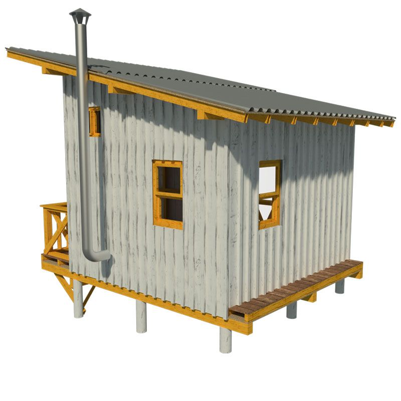Elevated cabin plans for Small lodge plans