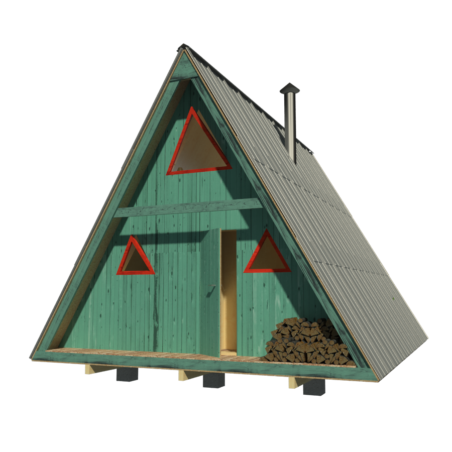 A frame tiny house plans for A frame home designs