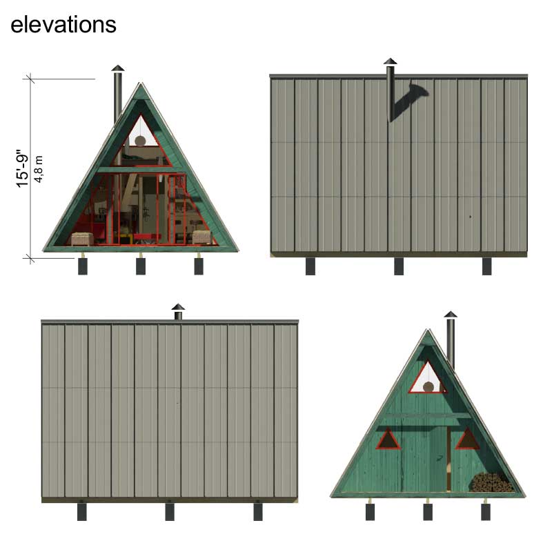 A frame tiny house plans for A frame building kits