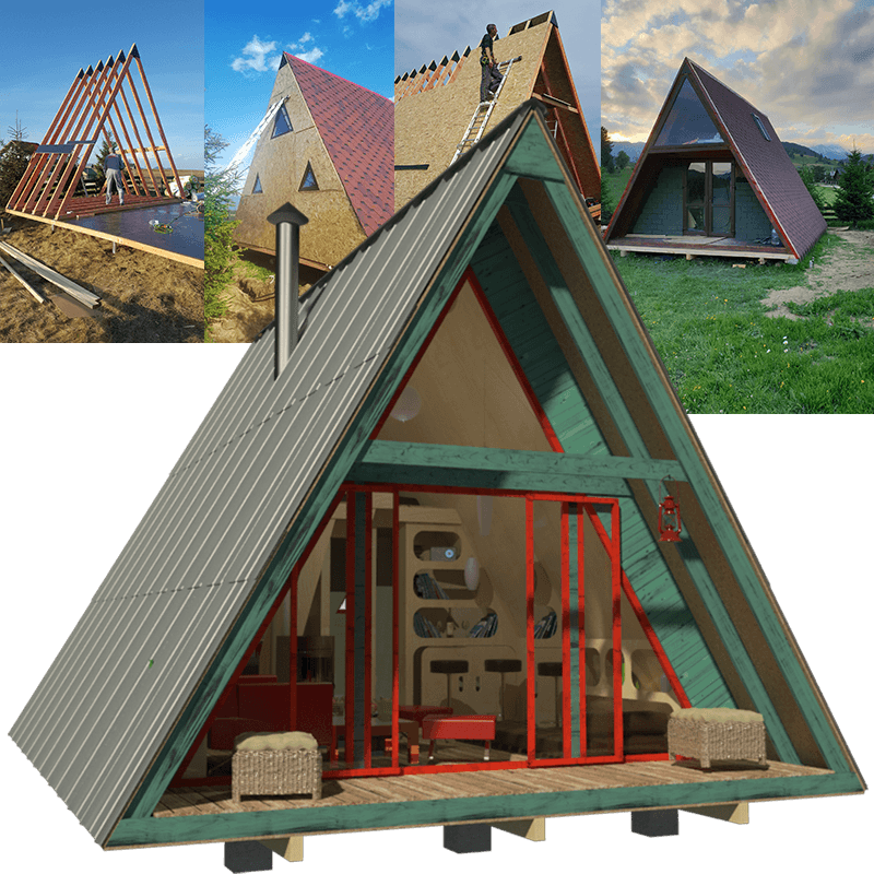 A-Frame Tiny House Plans Alexis