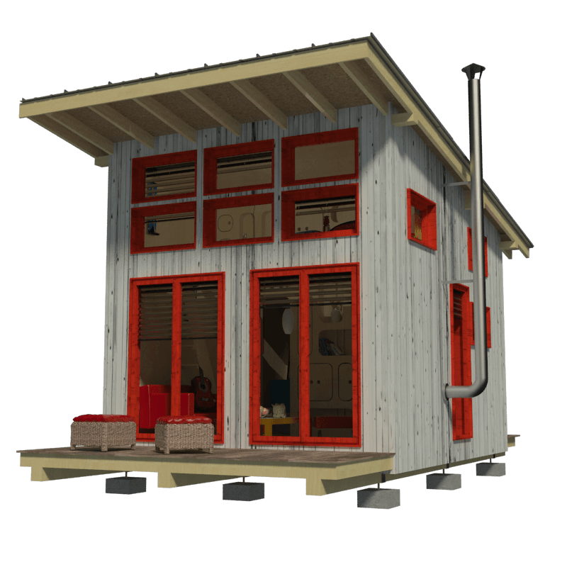 Beach cottage plans for Tiny cabin designs