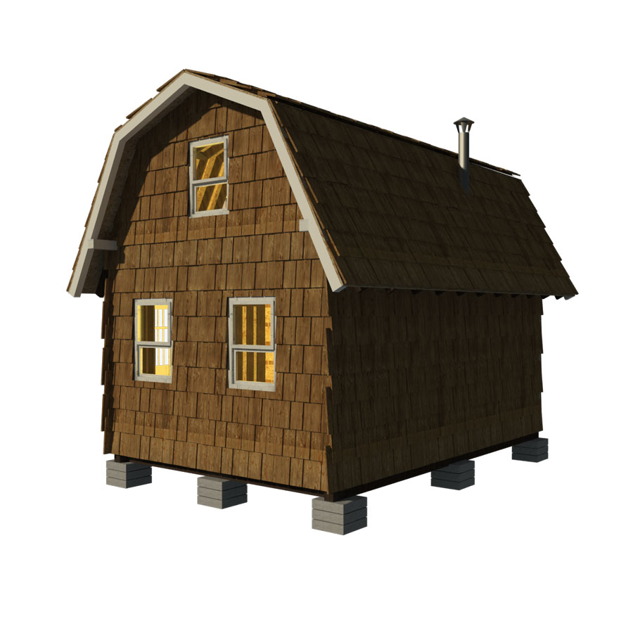 Small gambrel roof house plans for House roof construction