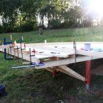 building small cabin floor frame