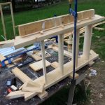 building small wooden stairs for a cabin