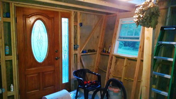 DIY cabin ann door