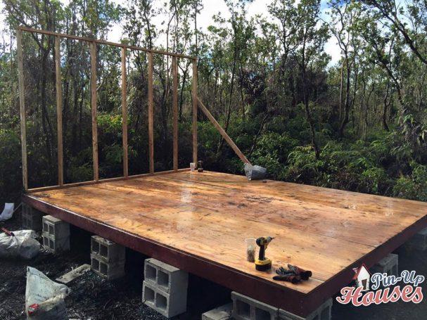 timber framed floor decking