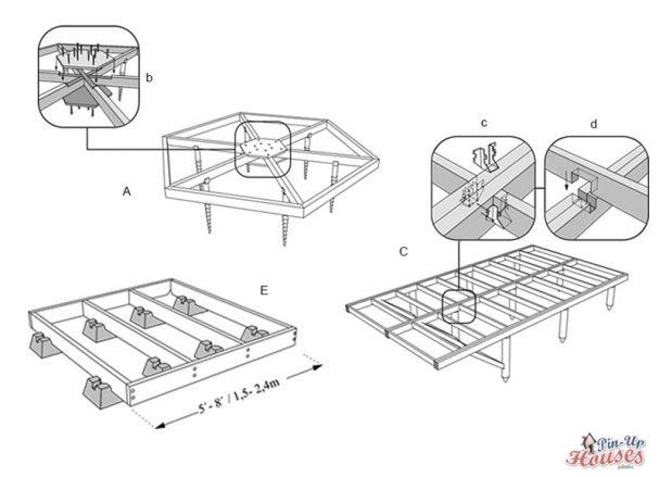 timber floor framing construction, simple wooden floor frames