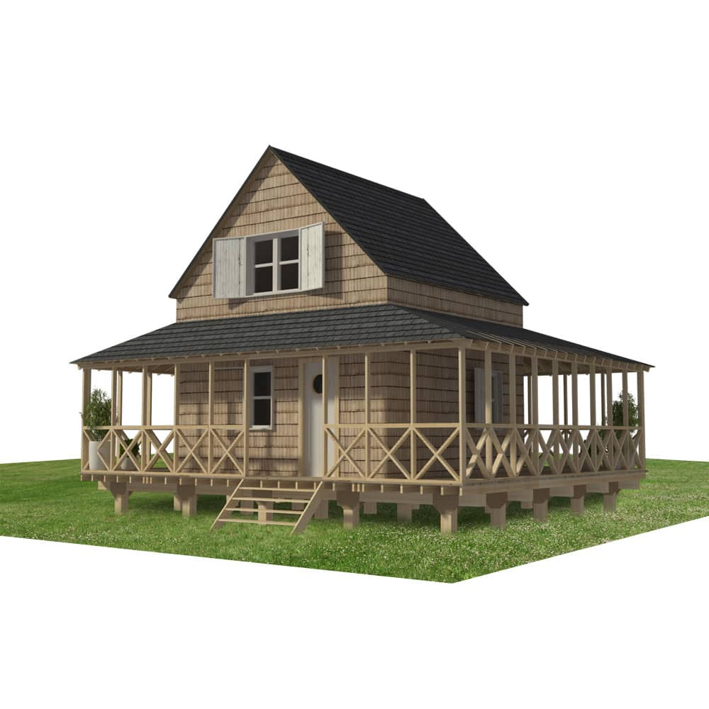 Cabin Plans With Wrap Around Porch