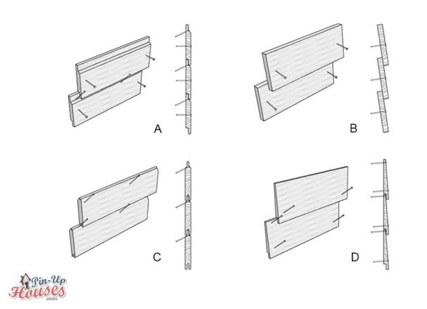 cabin siding options board cladding types of boards attechements