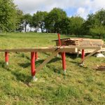 constructing small cabin timber floor frame