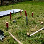 preparation of cabin wooden pillar foundations