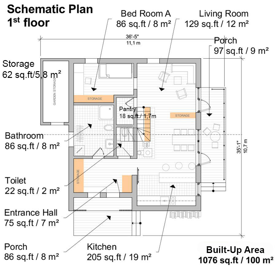 Clerestory House Plans Thelma