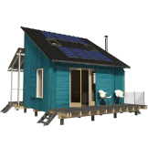 Small wooden house plans micro homes floor plans cabin for Clerestory house plans