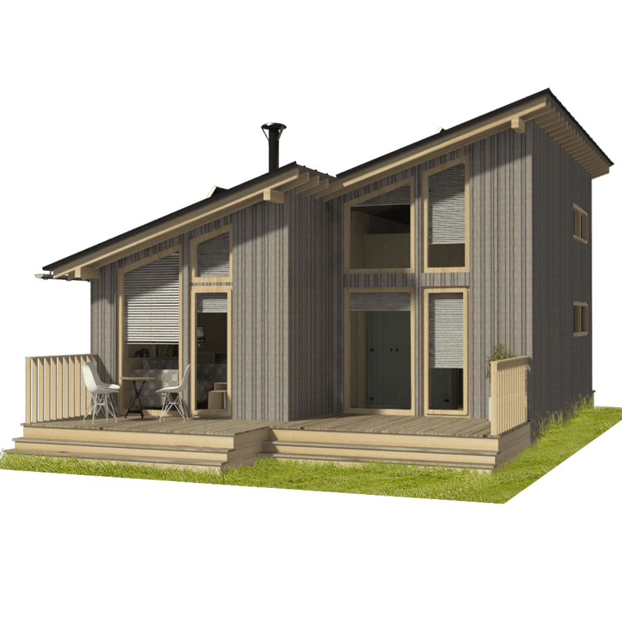 Compact Cabin Plans - Pin-Up Houses