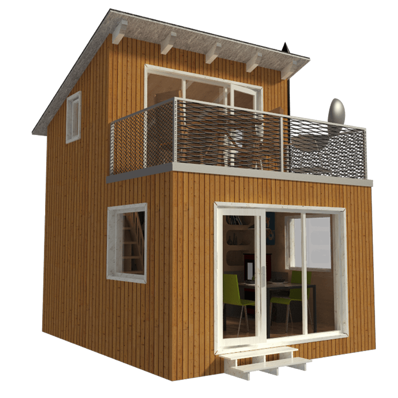 Contemporary cabin plans for Modern tiny house plans