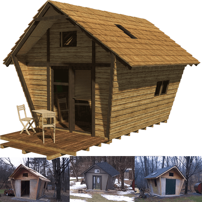 Pentagon cabin plans for Country cabin designs