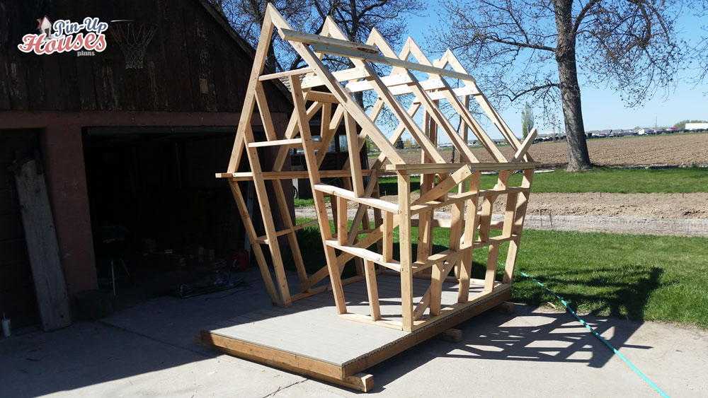 timber wall and roof frames