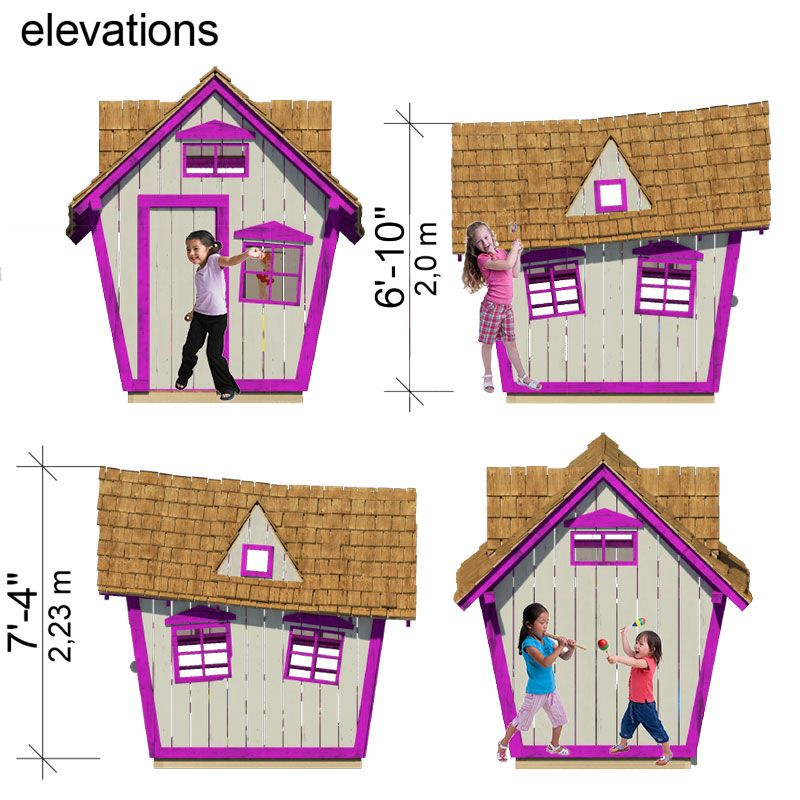 Crooked playhouse plans for Playhouse diy plans