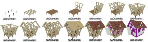 wooden playhouse for kids blueprints