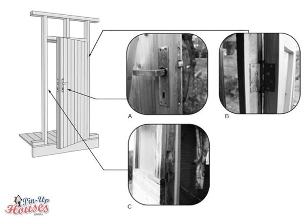 DIY construction building entrance doors for tiny house plans