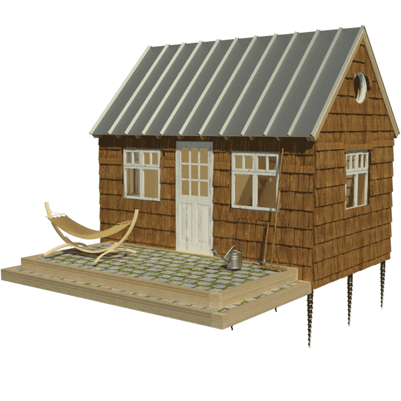 Wooden cabin plans for Small lodge plans