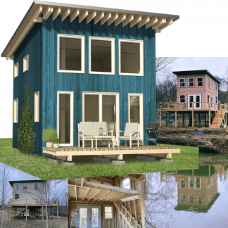 DIY elevated cabin blueprints