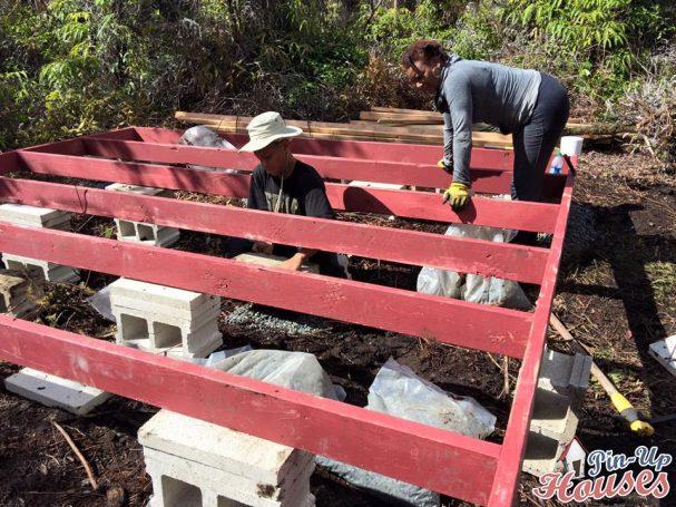 timber framework for foundations