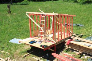 framing wall DIY wooden shed plans
