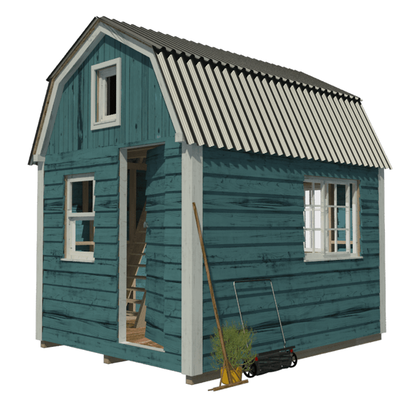 Gambrel roof shed plans for Gambrel shed