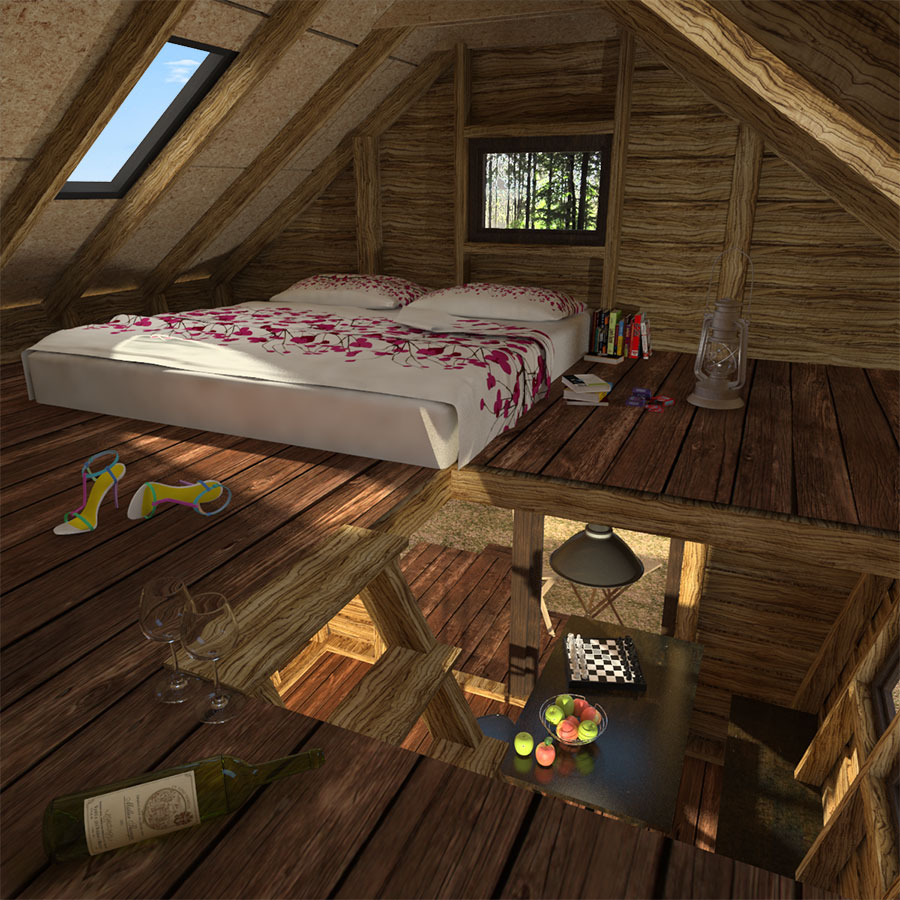 Pentagon cabin plans for Cabin designs with loft