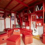 wooden small cabin Cheryl interior