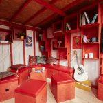 wooden small cabin Cheryl interior