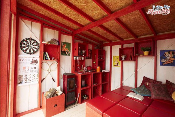 tiny houses kitchen and heater