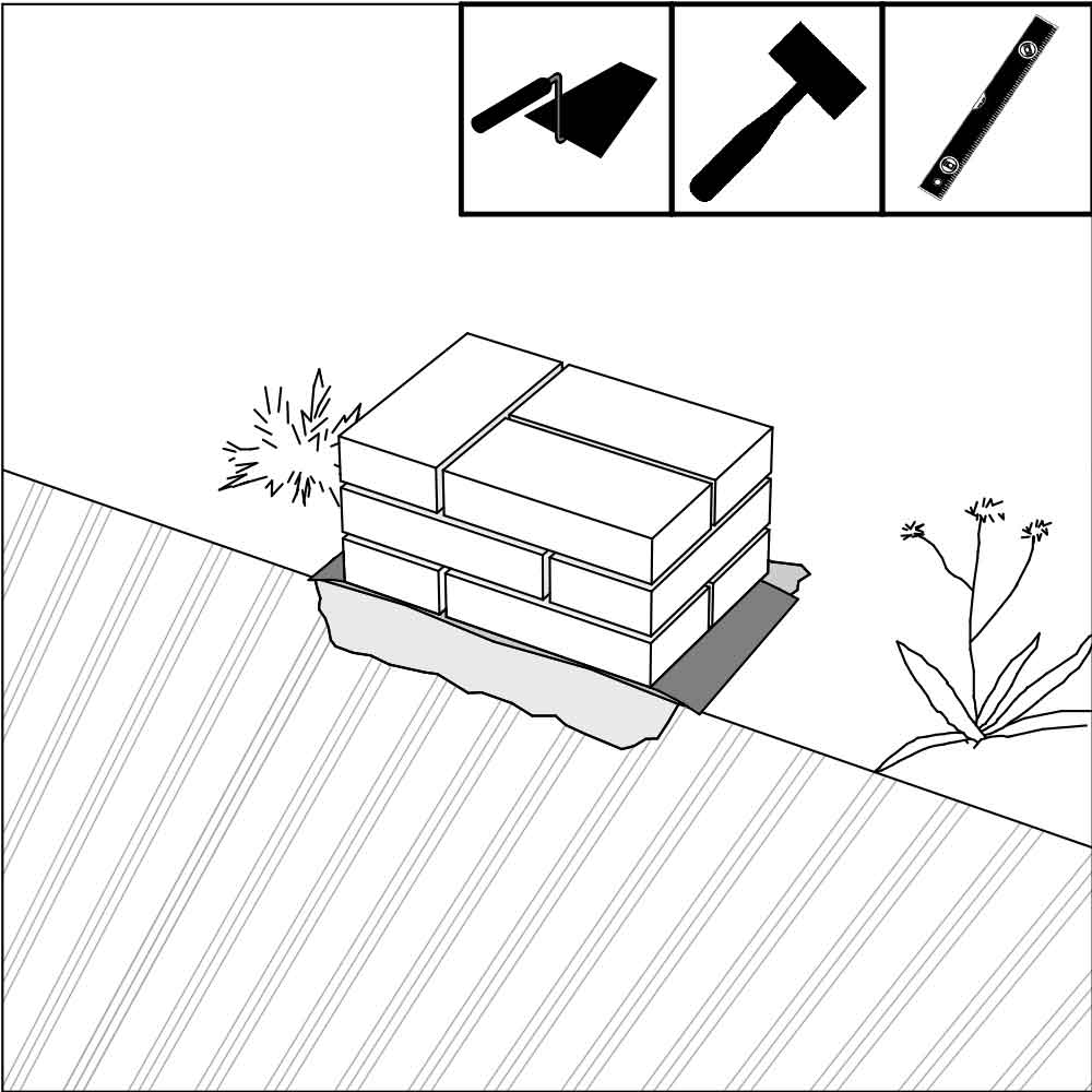DIY masonry foundations