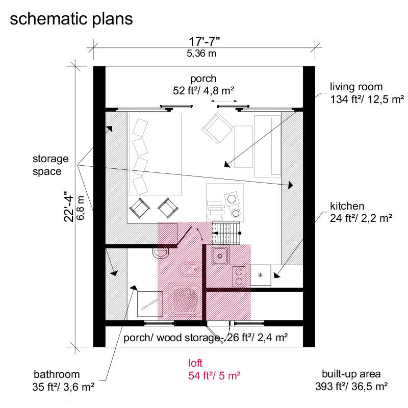 A frame tiny house plans for Tiny house blueprints free