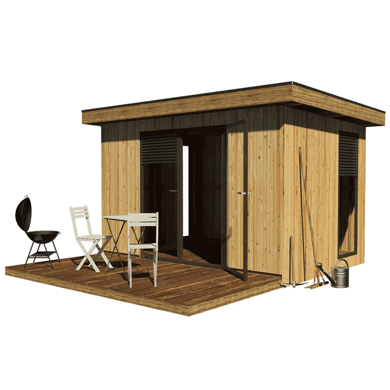 Modern garden shed plans for Modern shed roof house plans