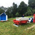 DIY wooden garden shed