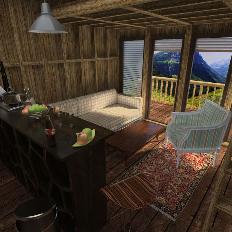 Vacation cabin plans for Small mountain cabin plans with loft