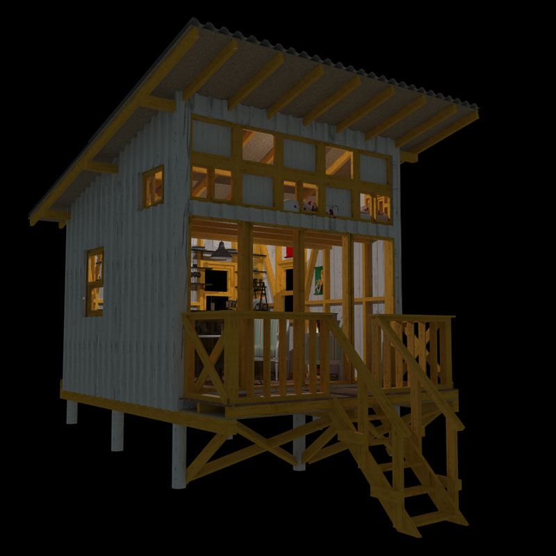 small cabin plans - Mountain Cabin Plans